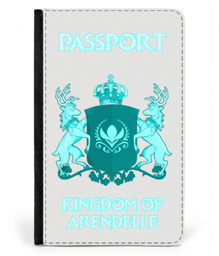 Faux Leather Passport Cover Kingdom of Arendelle from Disney's Frozen